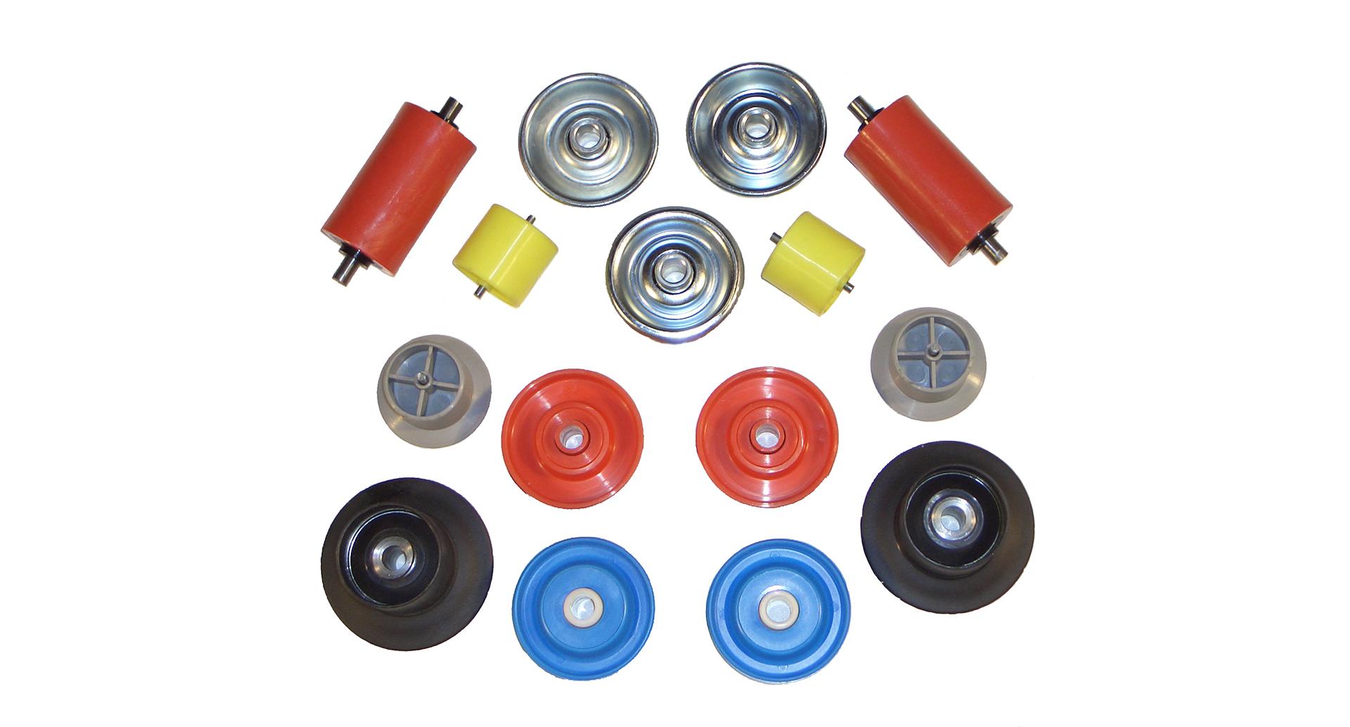 Gamme RC3M de galets de manutention en acier et PVC du diamètre 28mm au diamètre 50mm