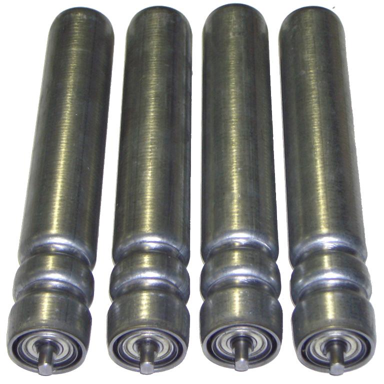 Rouleau de manutention en acier avec double gorge pour courroie ronde pour entraînement par motorisation