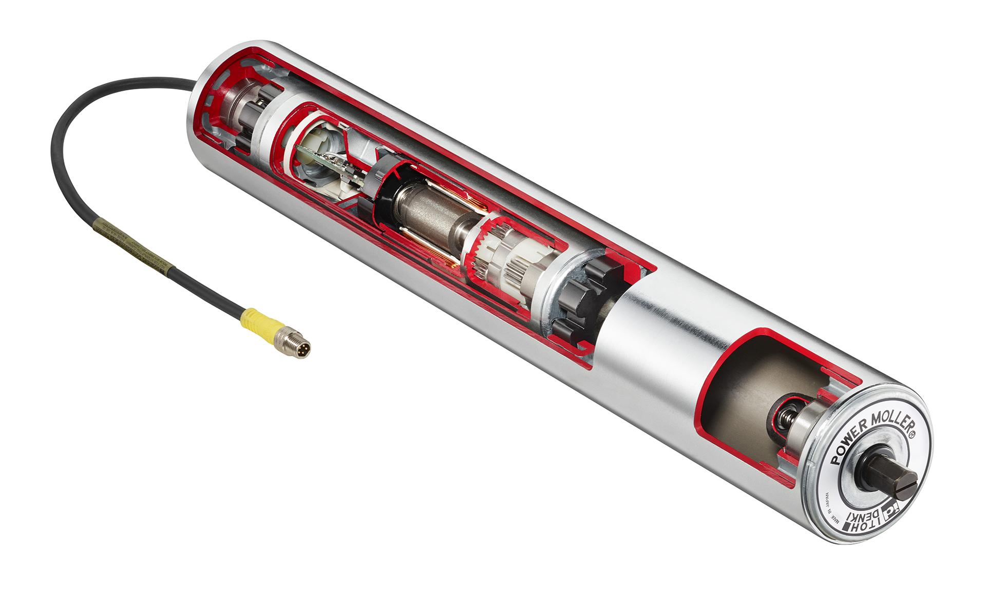 Rouleau avec moteur intégré diamètre 50 ou 60mm pour transport de charges légères à moyennes