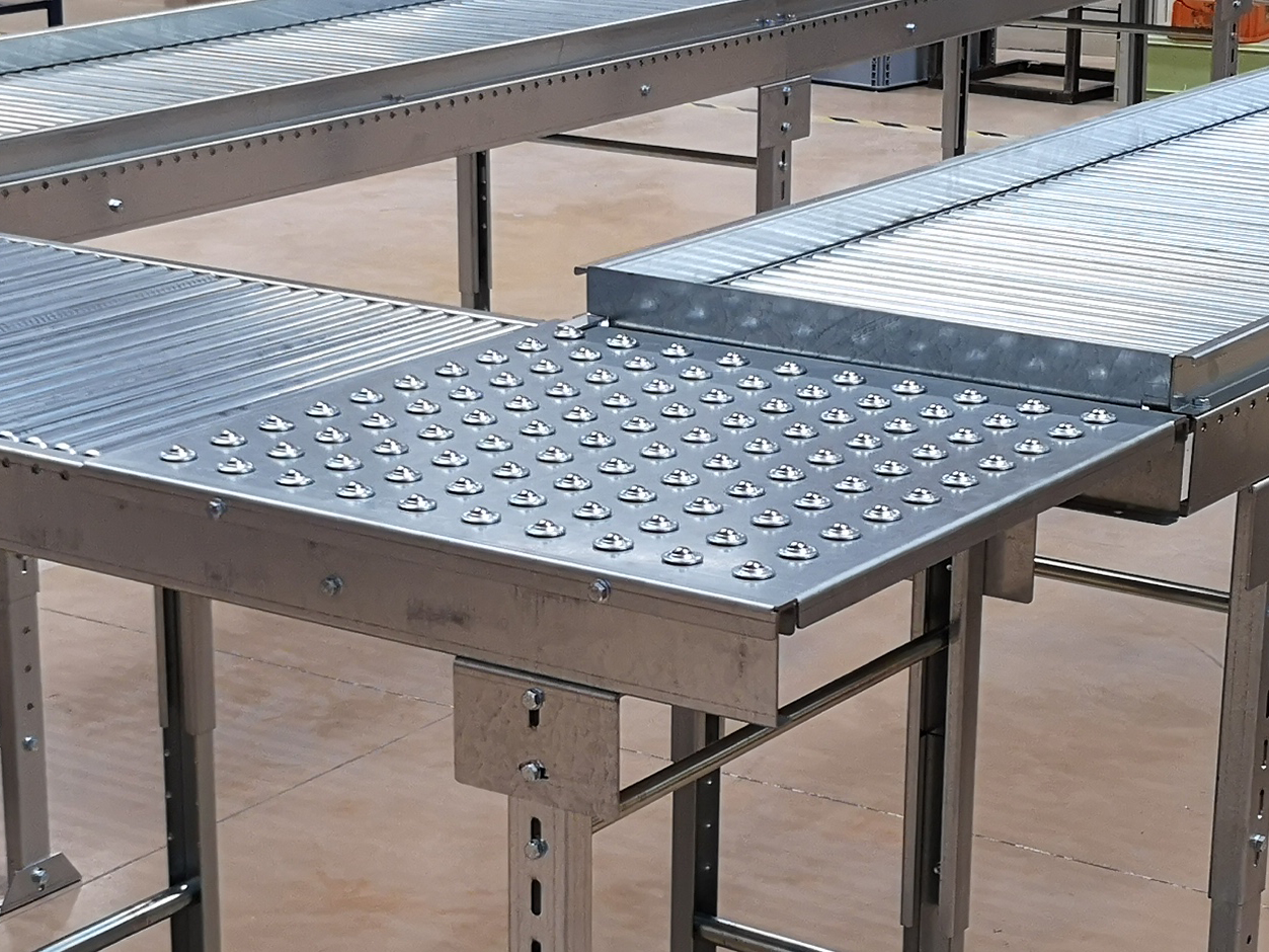 Plateau à billes de manutention pour table de travail opérateur