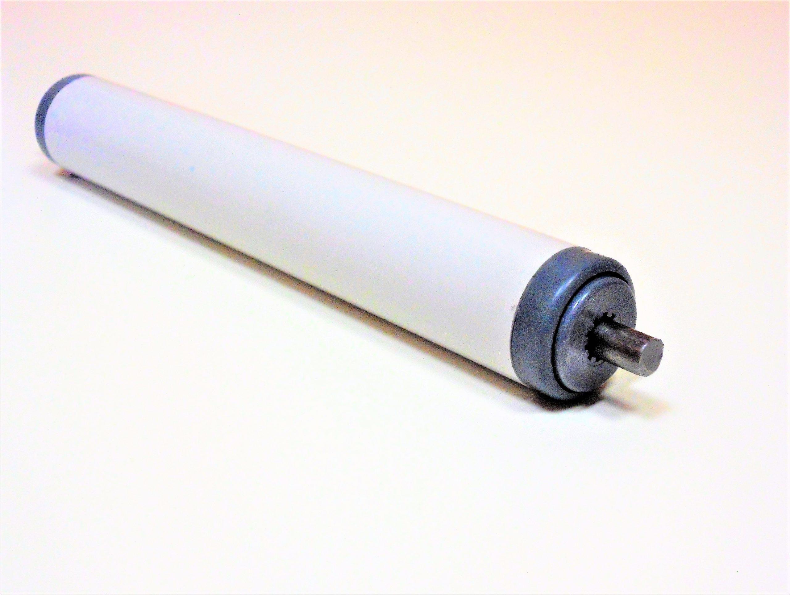 rouleau pour convoyeur avec tube pvc et roulements avec cages à billes