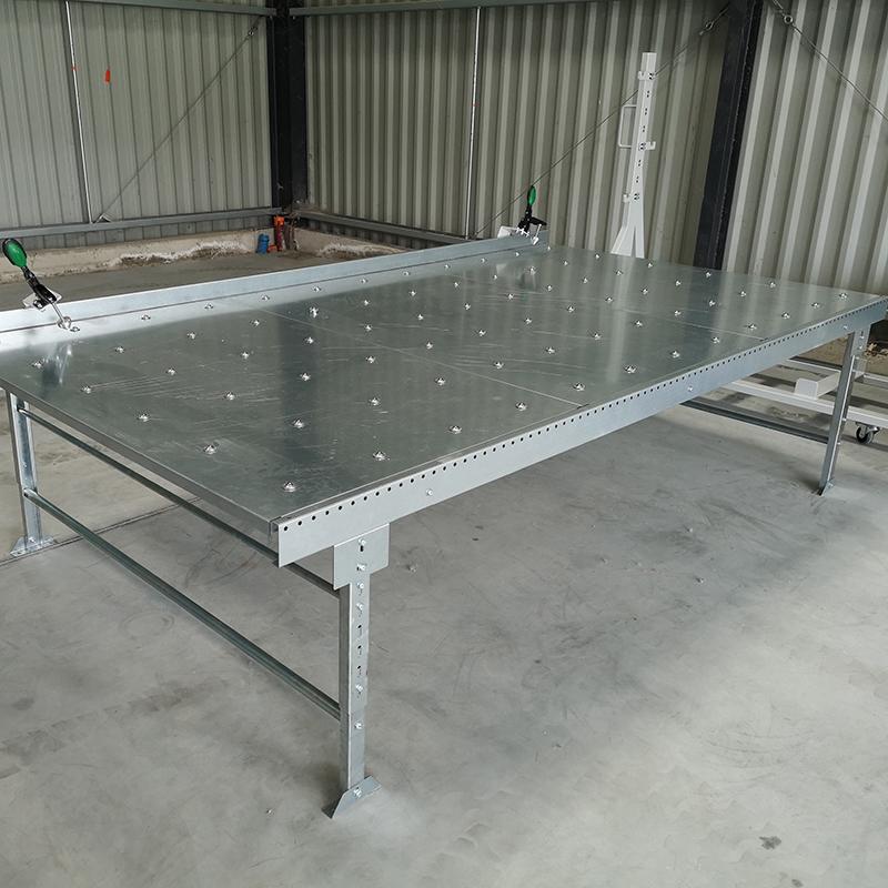Table à billes de manutention grand format pour plaques de plâtre